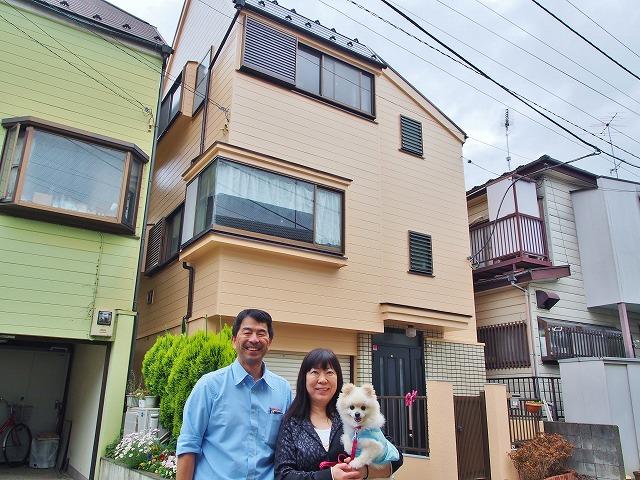 川崎市 K様邸 外壁・屋根塗装事例(2015年4月28日 完工)