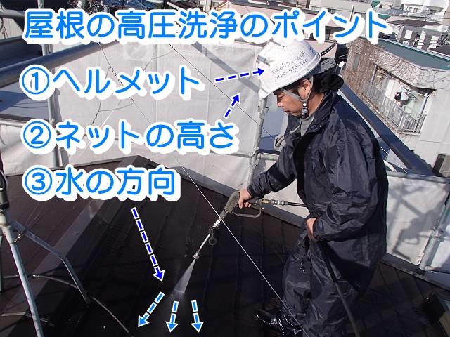 屋根の高圧洗浄のポイント