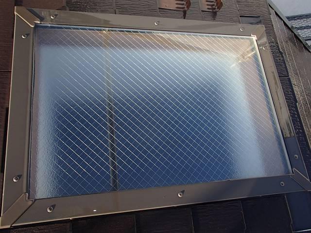 天窓の洗浄後