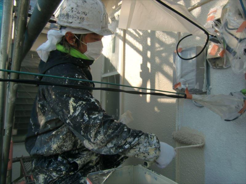 20170216外壁塗装T様邸外壁2中塗りCIMG5976_s