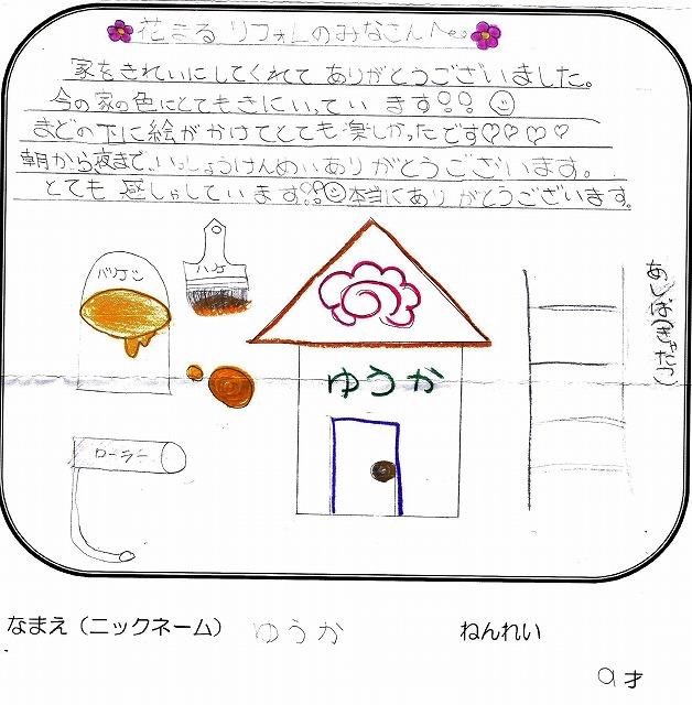 ゆうかさん(9才)の観察力抜群のイラスト付きの感想