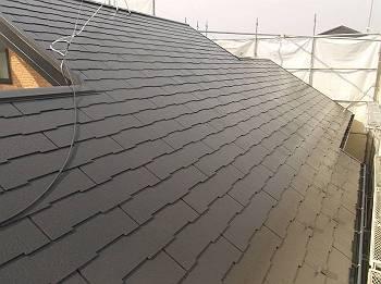 施工後の屋根です。 遮熱塗料(クールタイトSi)で塗装しました。