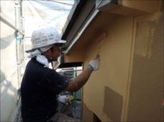 外壁塗装中塗り:アートフレッシュ