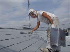 屋根塗装上塗り (快適サーモSi)
