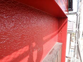 施工後の2階モルタル外壁です。
