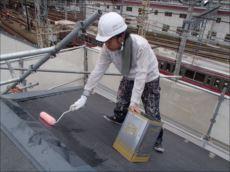 屋根塗装下塗り (マイルドシーラーEPO)