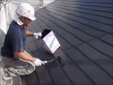 屋根塗装上塗り (クールタイトSi)