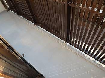 施工後の防水層です。