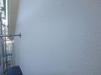 外壁もこの通り、透き通った白になりました。