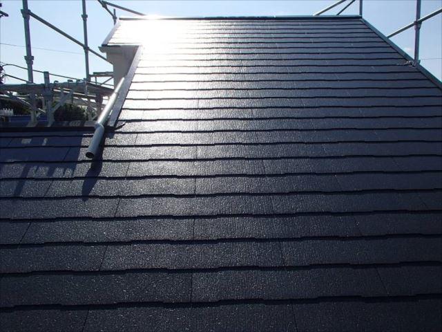 施工後の屋根です。遮熱塗料のクールタイトで塗装しました。
