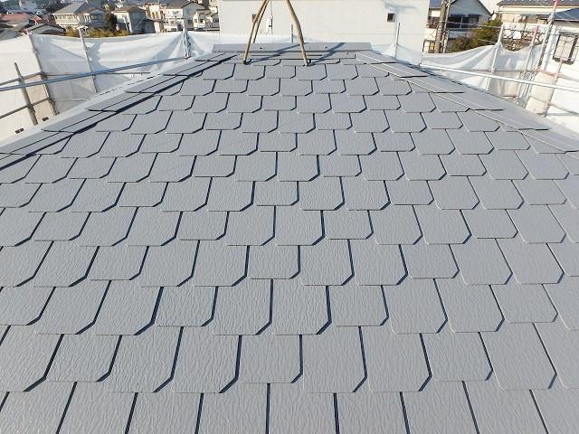 遮熱塗料グレーで塗った屋根の事例