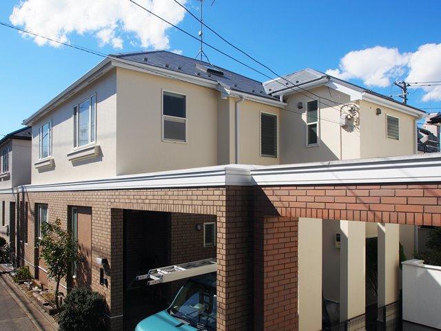 遮熱塗料グレーで塗ると屋根はこのように見える