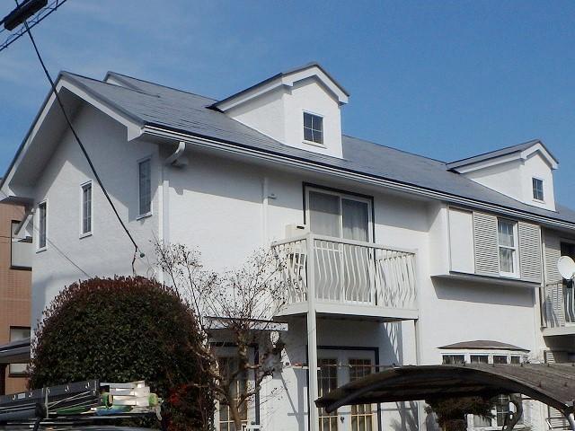 遮熱塗料クールタイトグレーで塗った家