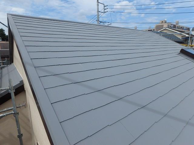 遮熱塗料グレーの屋根