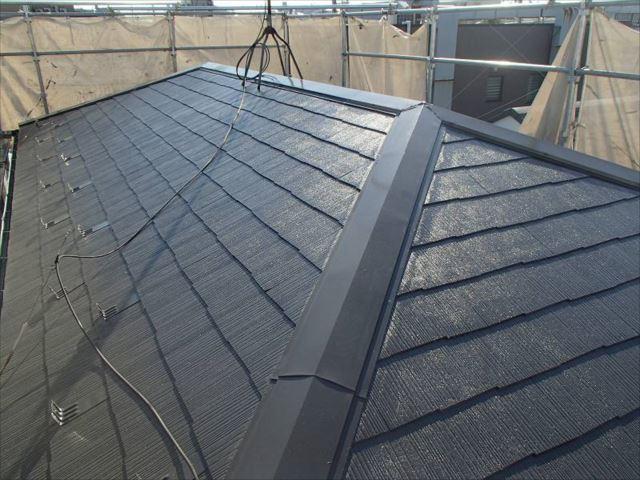 施工後の屋根です。遮熱塗料の「クールタイトSi」を使用しました。