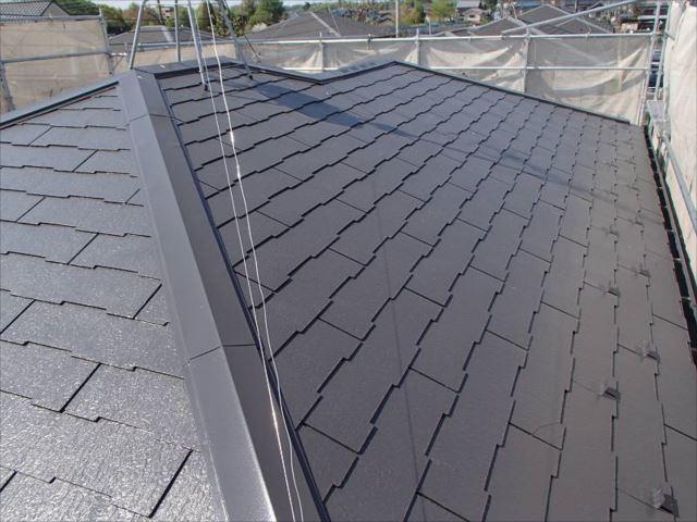 施工後の屋根です。遮熱塗料で美しく生まれ変わりました。