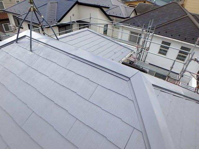 奥の家が黒い屋根なので、比較するとグレーがハッキリ分かります。
