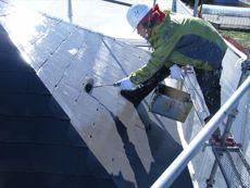屋根の上塗り塗装中です。遮熱塗料の効果はいかがでしょうか?
