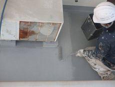 バルコニー床の塗装は「セルコートS」を使用しました。
