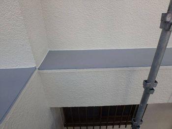 グレーの部分は防水塗料を使用した箇所です。