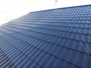 屋根もとても素敵な色合いで上品になりました。