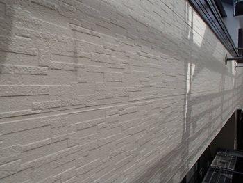 外壁も塗装をしっかりと行ったので美しい仕上がりです。