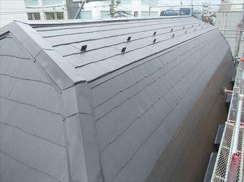 屋根の色はセピアブラウンです。落ち着いたとても良い色です。