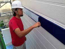 帯板部分の塗装も行いました。F様ご要望の色が鮮やかに映えて素敵です。