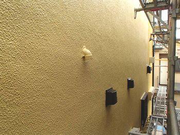 側面は艶有り塗料の「水性弾性セラミシリコン」です。