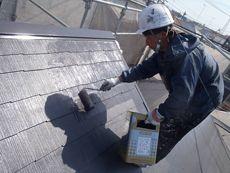 中塗り・上塗りには遮熱塗料の「クールタイト」を使用しています。