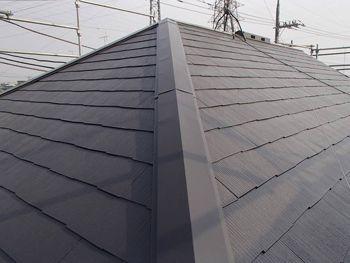 遮熱塗料を使用した屋根の色は「セピアブラウン」です。