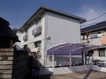 施工後の外観です。とても築30年のアパートとは思えません。