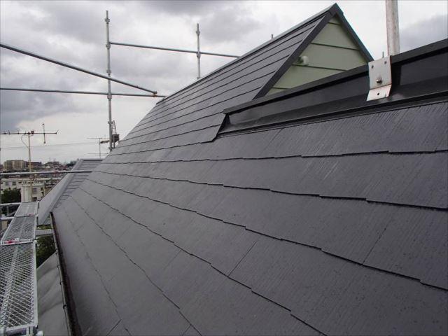 施工後の屋根です。見違えるように綺麗になりました。