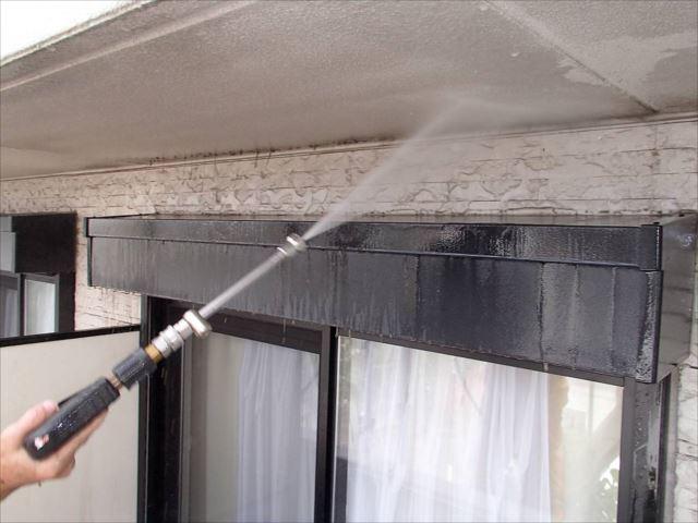 シールが充分硬化してから高圧洗浄を行います。