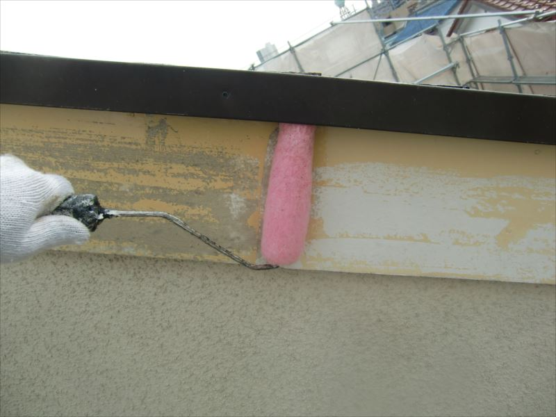 破風板下塗り