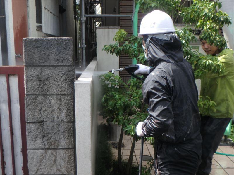 高圧洗浄 塀洗浄
