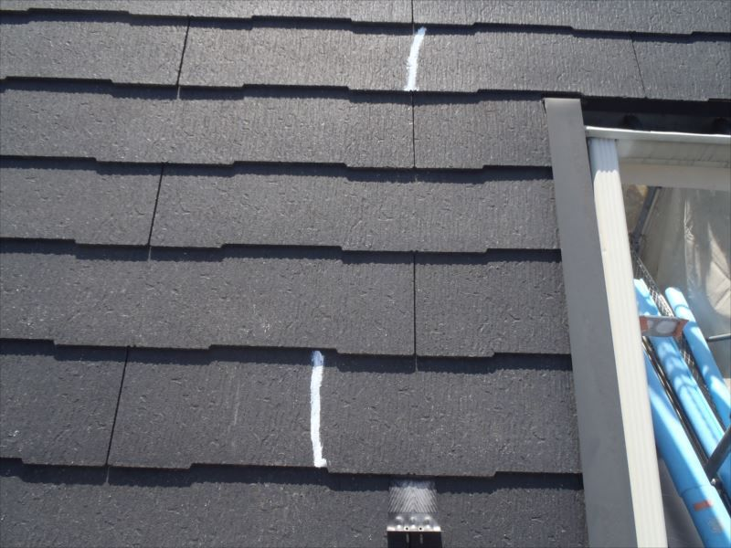 屋根板 クラック補修