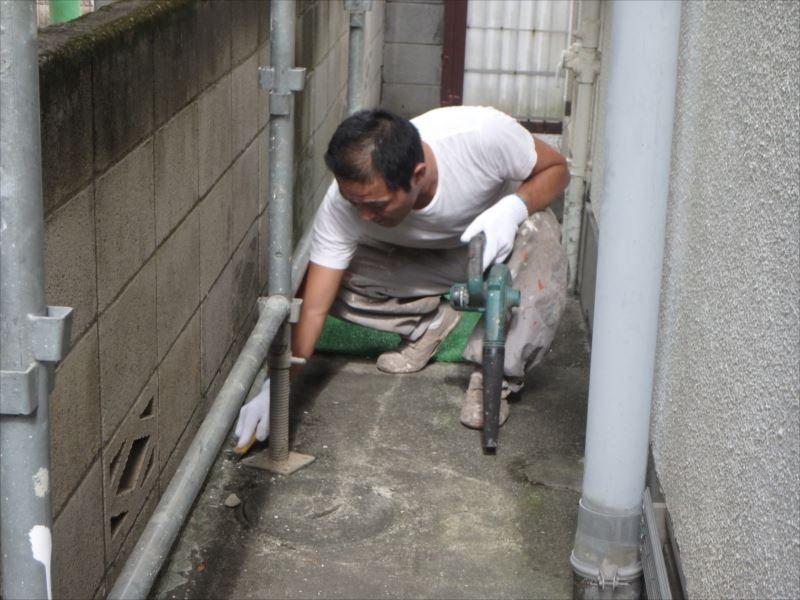 敷地内掃除