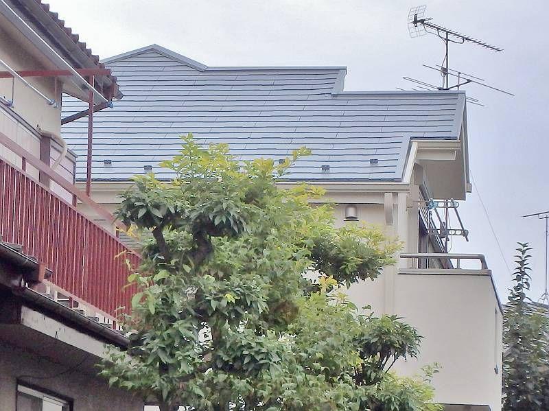 屋根も下から見ても塗り替えたのが分かります