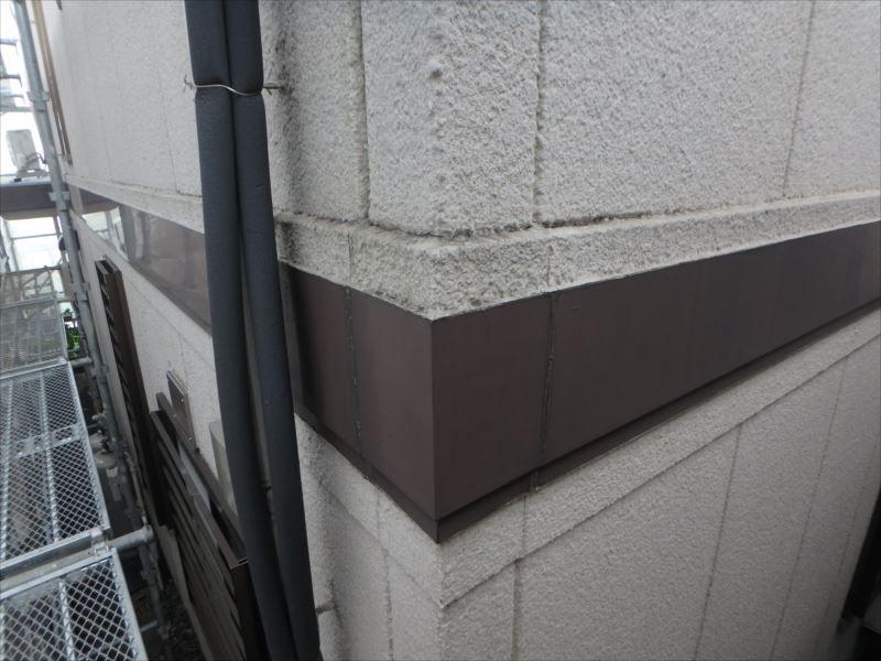 施工前 外壁(帯板)