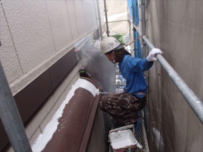 鉄部下塗り 出窓屋根