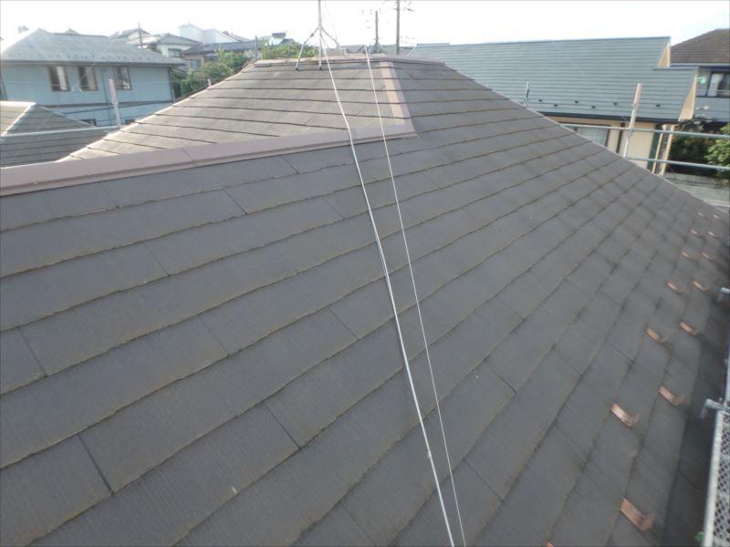 屋根塗装工事前(ビフォー)