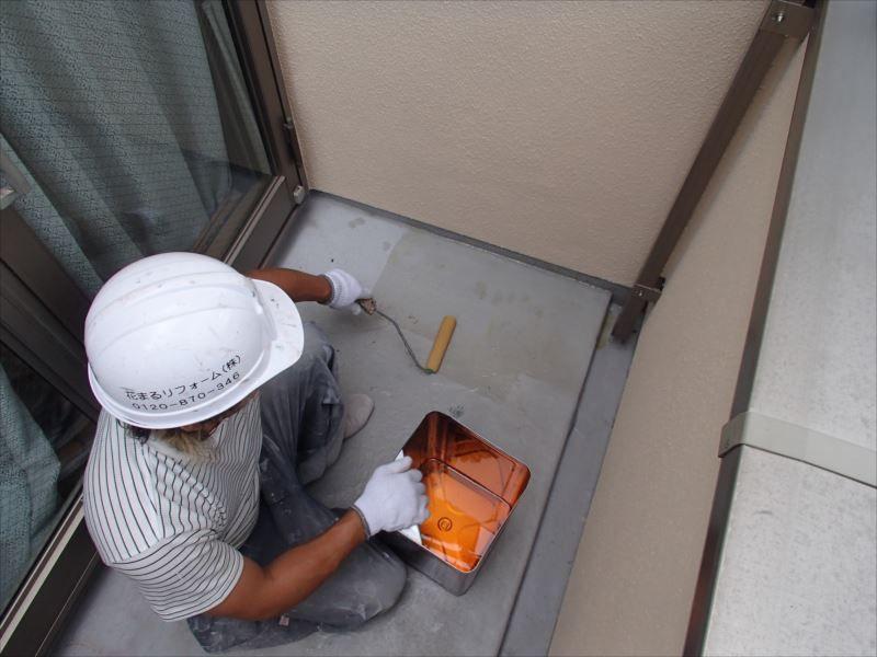 防水塗装 プライマー塗布