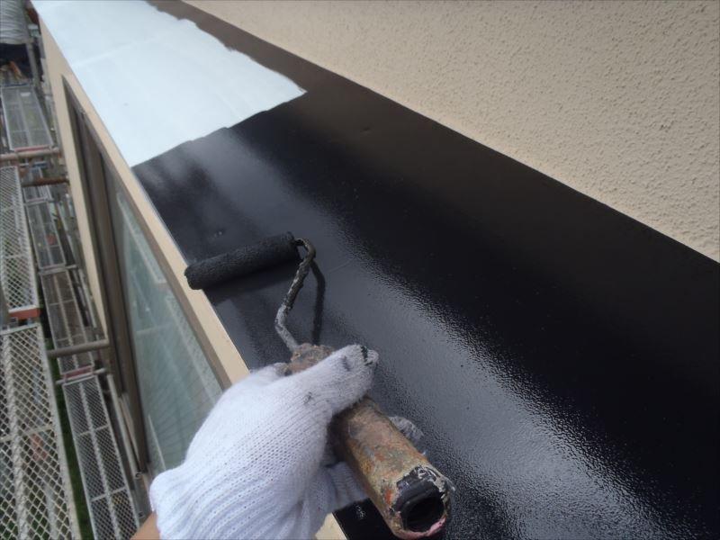 鉄部上塗り 出窓屋根