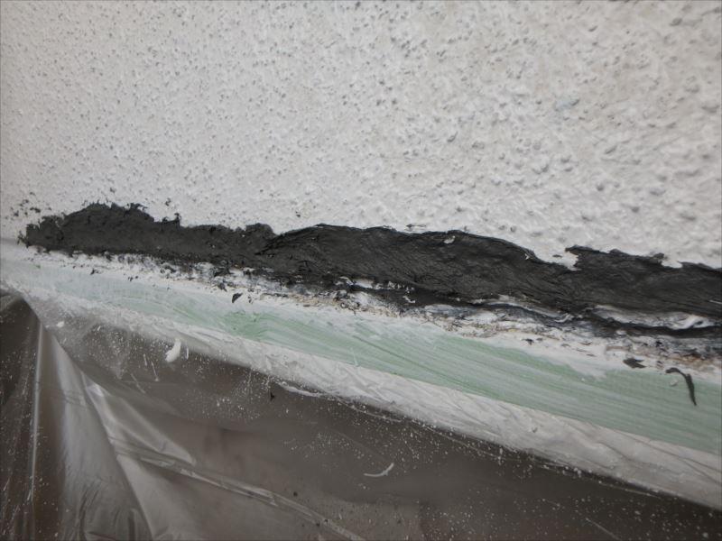 外壁 下地補修 基礎水切り上端