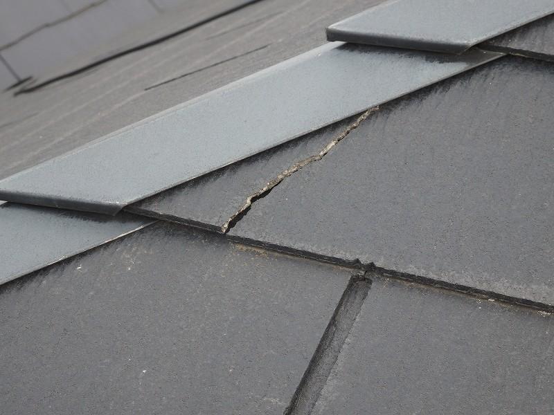 屋根表面はこんな箇所がチラホラ