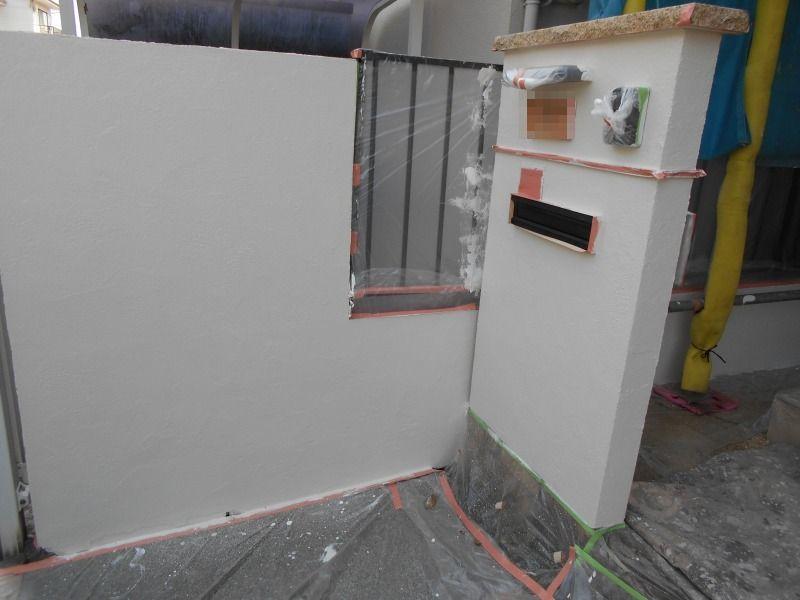 門塀上塗り
