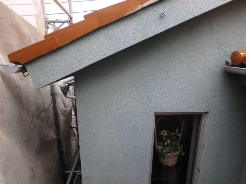 退色が激しい外壁