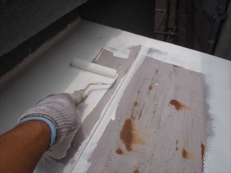 鉄部下塗り トタン屋根