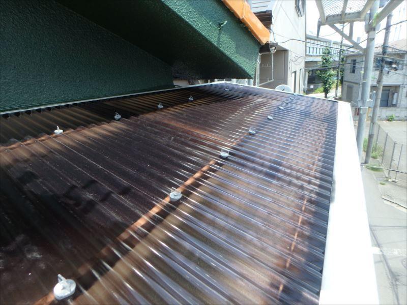 施工後波板屋根